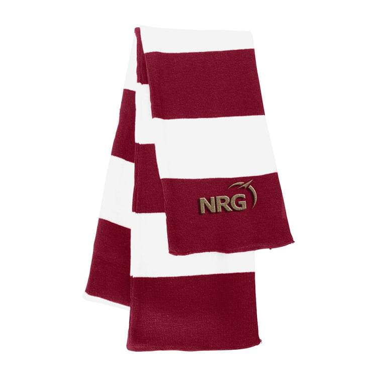 Sportsman Rugby Striped Knit Scarf