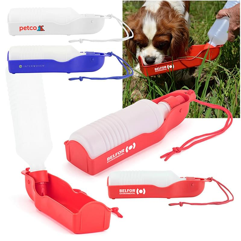 Squeeze-and-Serve Pet Water Bottle