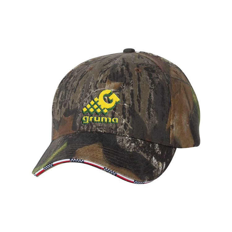 Kati Camouflage Cap with American Flag Sandwhich Bill
