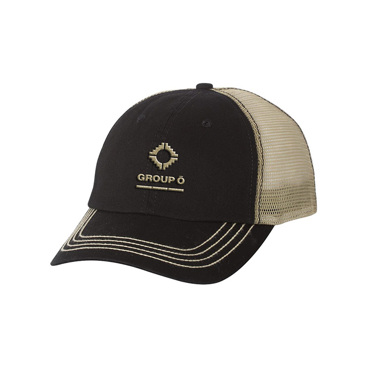 Mega Cap Washed Twill Trucker Cap