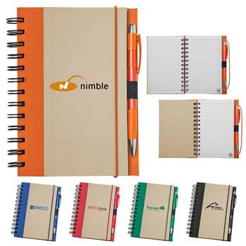 Recycled Color Spine Spiral Notebook Set