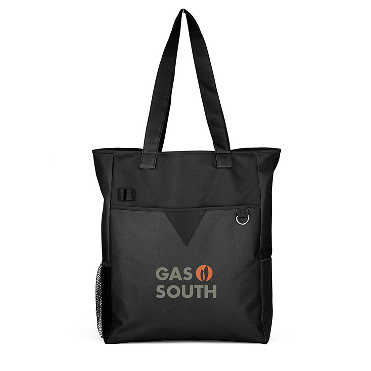 Center Divider Zip Top Tote