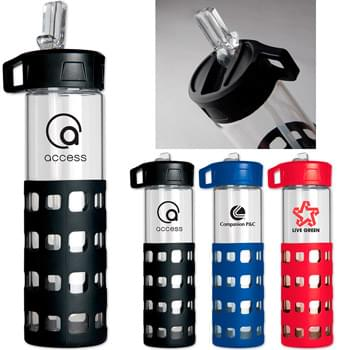 20 oz. Sip-n-Go Glass Water Bottle