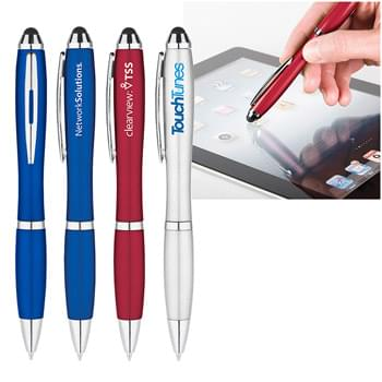 Metallic Curvaceous Stylus Gel Pen