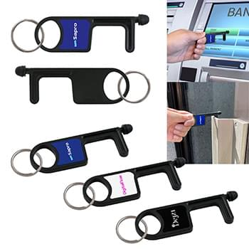 Antimicrobial Touch Free Keytag