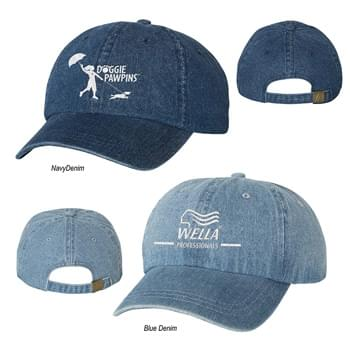 Mega Cap Washed Denim Cap