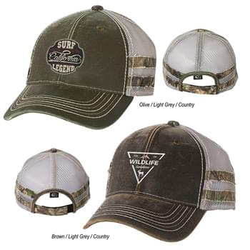Outdoor Cap Frayed Camo Stripes Cap