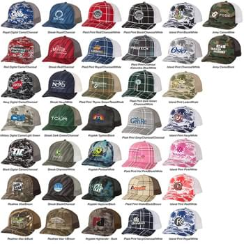 Richardson Patterned Snapback Trucker Cap