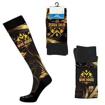Custom Running-Length Sport Style Socks - Digital Sublimation