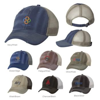 SPORTSMAN DIRTY-WASHED MESH CAP