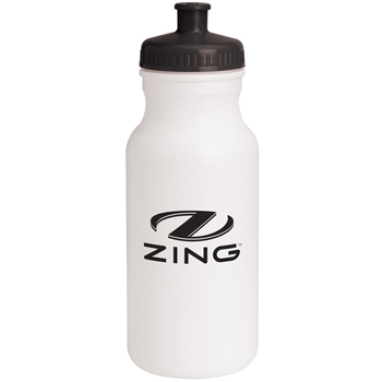 20 oz. Evolve Basic White Water Bottle