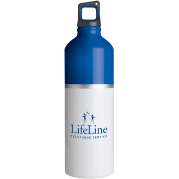 25 oz. 2-Tone Color Spot Aluminum Water Bottle