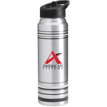 28 oz. Striped Aluminum Water Bottle